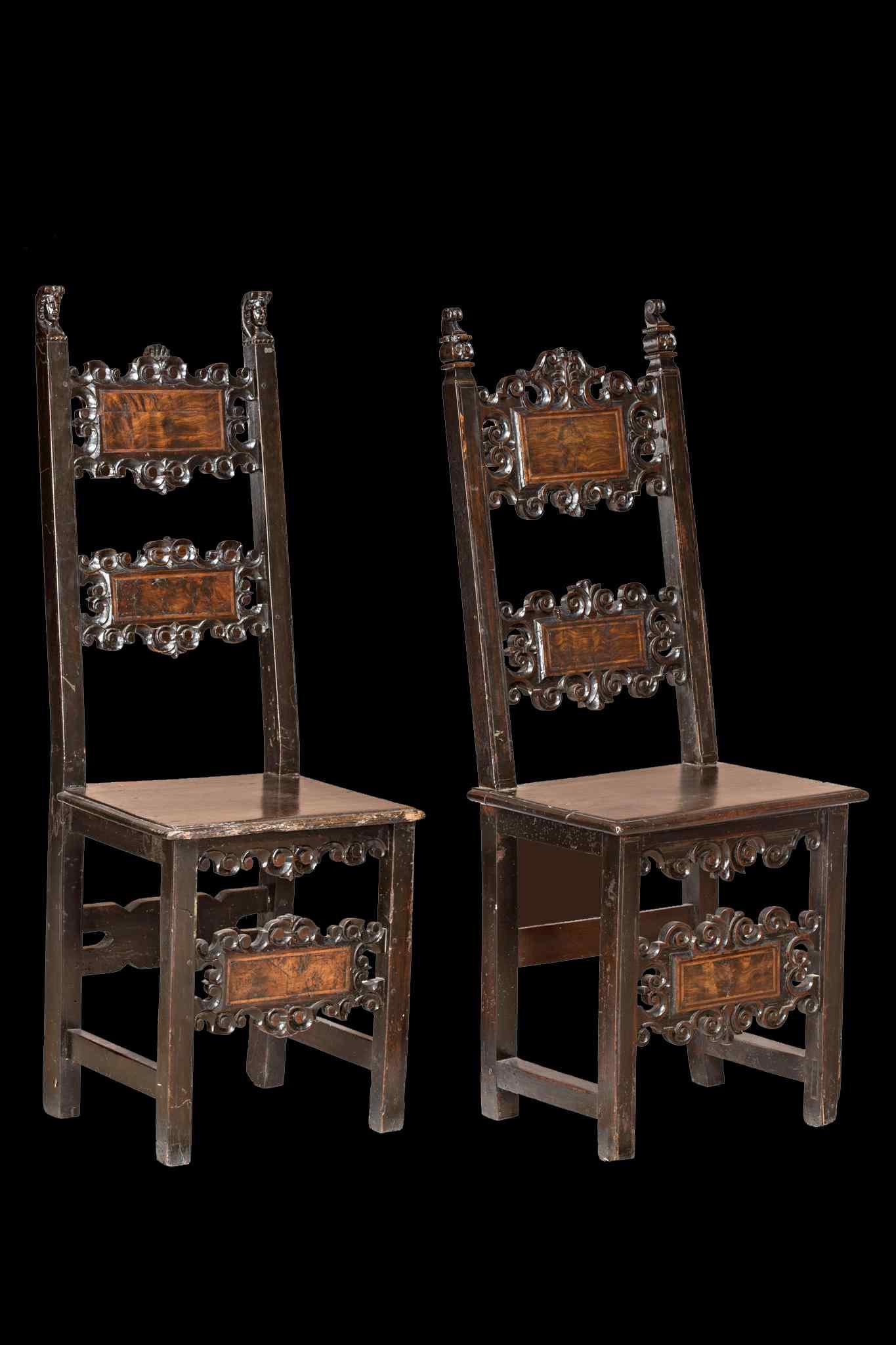 Coppia di sedie fratine