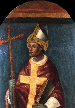 Angelo Zoppo -. S.Claudio Sec évêque XV-1