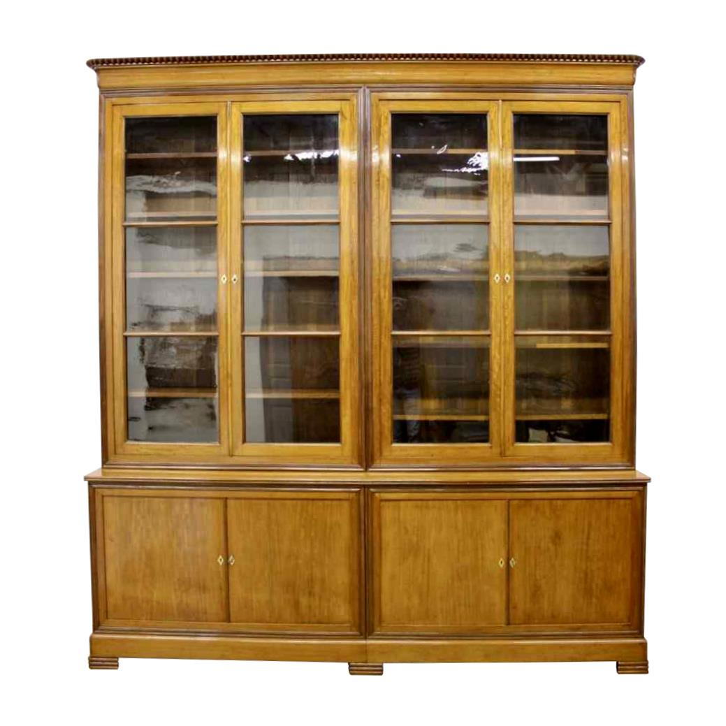 Louis Philippe bookcase in blond mahogany