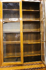 Louis Philippe bookcase in blond mahogany-5