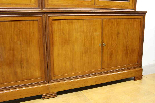 Louis Philippe bookcase in blond mahogany-4