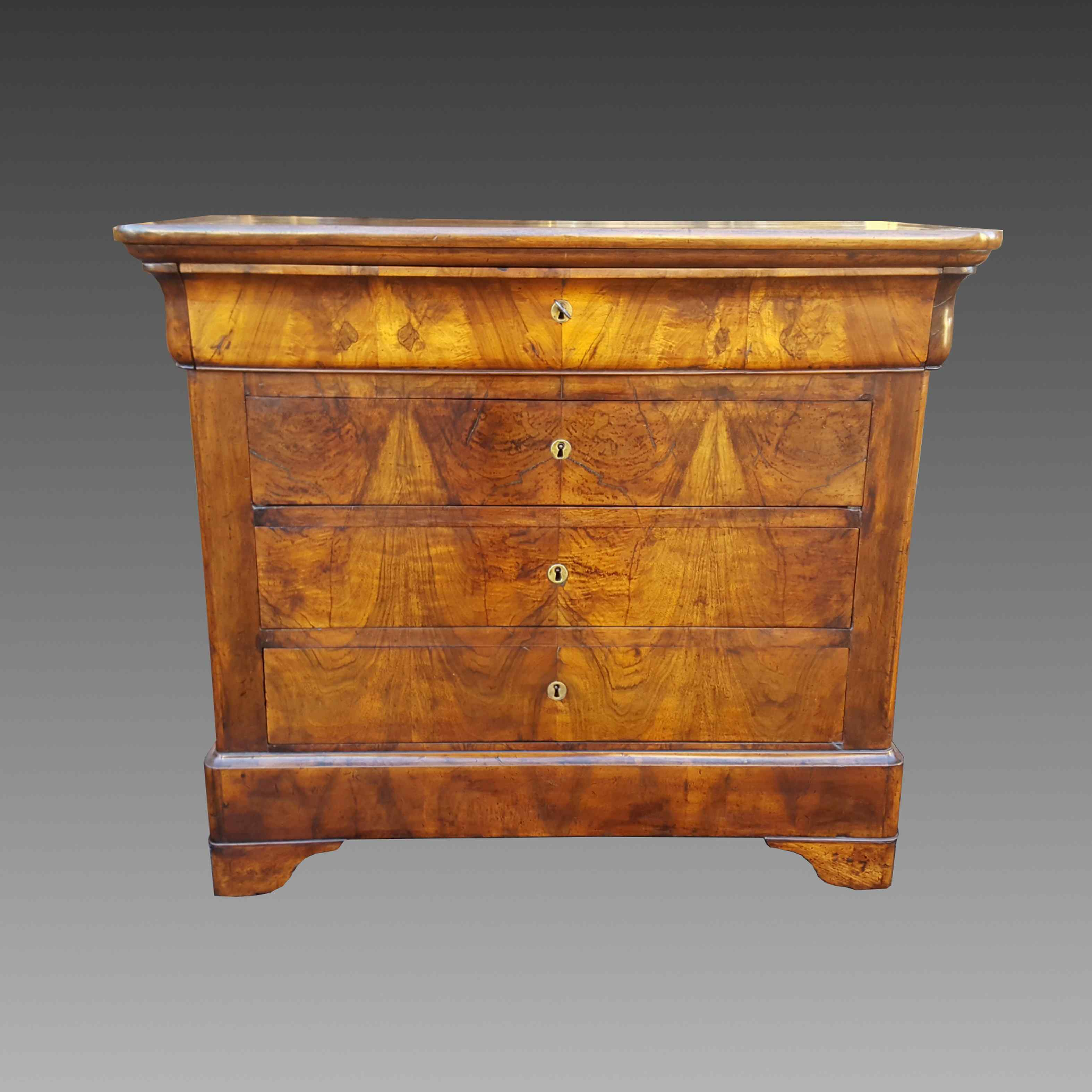 Antique Louis Philippe Commode Chest of drawers walnut -19th