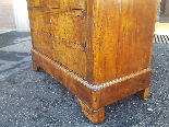 Antique Louis Philippe Commode Chest of drawers walnut -19th-12