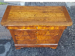 Antique Louis Philippe Commode Chest of drawers walnut -19th-13