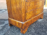 Antique Louis Philippe Commode Chest of drawers walnut -19th-11