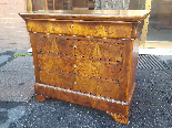 Antique Louis Philippe Commode Chest of drawers walnut -19th-2
