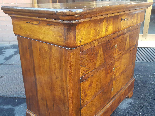Antique Louis Philippe Commode Chest of drawers walnut -19th-9