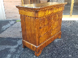Antique Louis Philippe Commode Chest of drawers walnut -19th-3