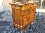 Антикварный комод Луи-Филиппа в ореховом орехе - 19 век-3
