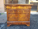 Antique Louis Philippe Commode Chest of drawers walnut -19th-17