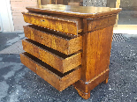 Antique Louis Philippe Commode Chest of drawers walnut -19th-6