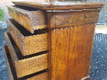 Antique Louis Philippe Commode Chest of drawers walnut -19th-15