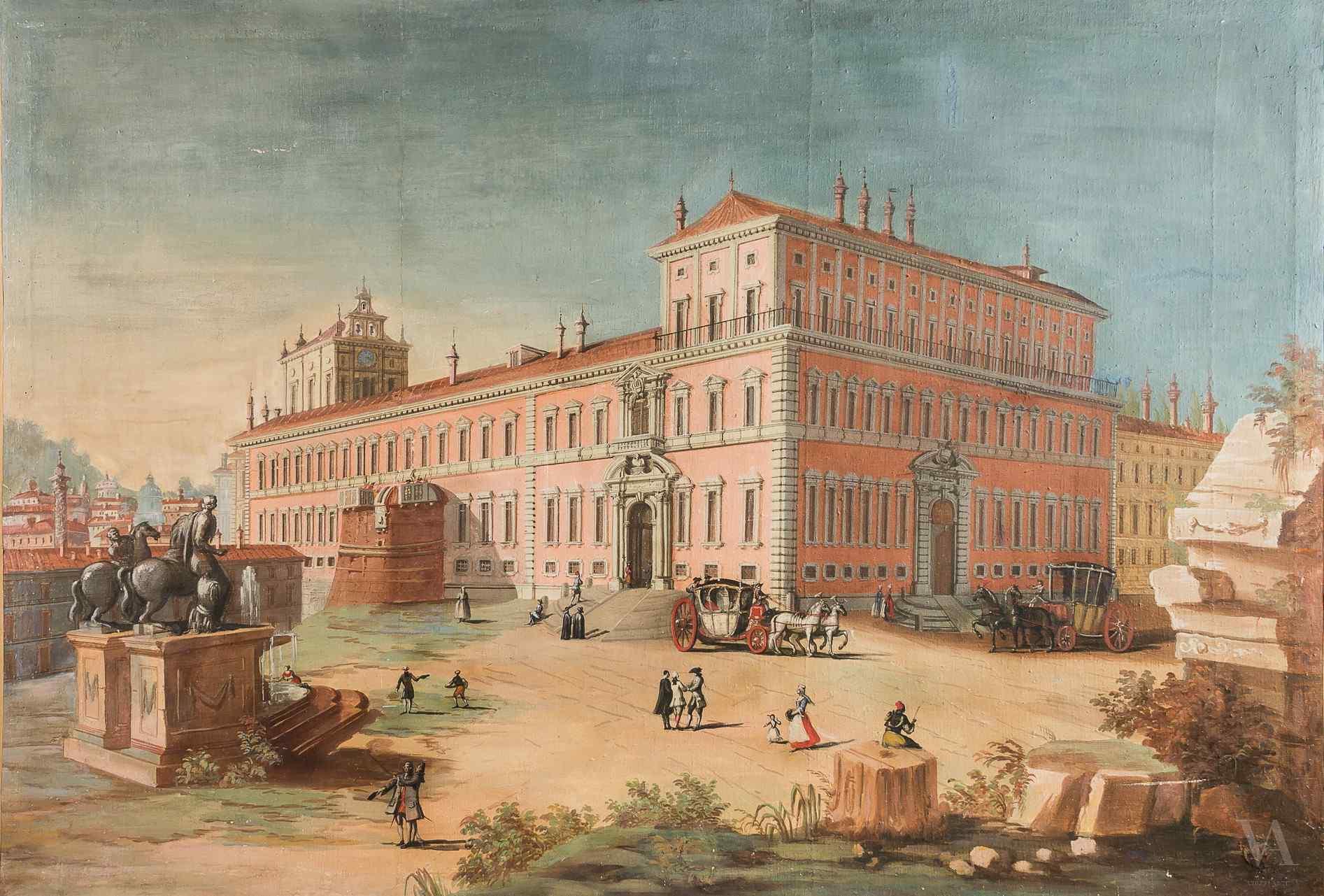 Vue de Rome avec le Quirinal et la statue de Castor. XVIII