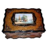Large Napoleon III oak and ebanized wood cabinet-0