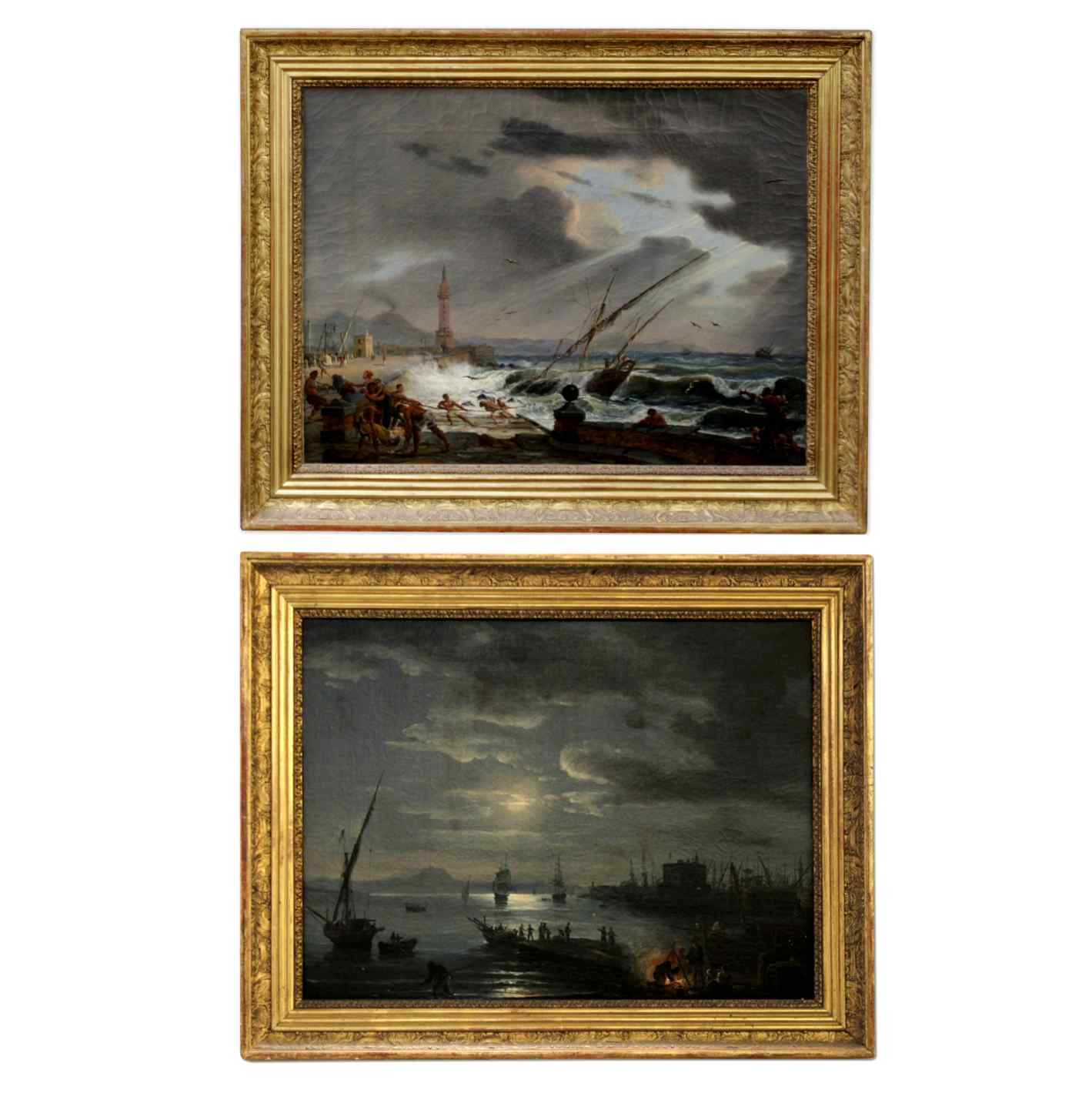 PAIR OF IMPORTANT PAINTINGS SIGNED ÉMILE JEAN HORACE VERNET