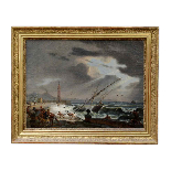PAIR OF IMPORTANT PAINTINGS SIGNED ÉMILE JEAN HORACE VERNET-2