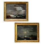 PAIR OF IMPORTANT PAINTINGS SIGNED ÉMILE JEAN HORACE VERNET-0