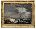 PAIR OF IMPORTANT PAINTINGS SIGNED ÉMILE JEAN HORACE VERNET-1