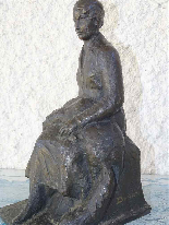 JAUME DURAN The young woman with the dog Bronze Art Deco c19-3