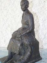 Jaume DURAN La giovane donna con il cane in bronzo Art Deco-3