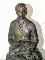 JAUME DURAN The young woman with the dog Bronze Art Deco c19-7