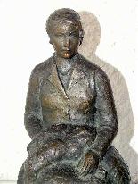 Jaume DURAN La giovane donna con il cane in bronzo Art Deco-7