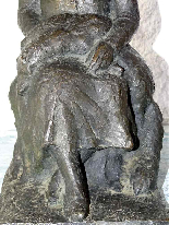 JAUME DURAN The young woman with the dog Bronze Art Deco c19-4