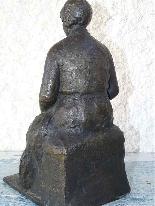 Jaume DURAN La giovane donna con il cane in bronzo Art Deco-0