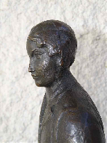 JAUME DURAN The young woman with the dog Bronze Art Deco c19-1