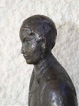 Jaume DURAN La giovane donna con il cane in bronzo Art Deco-1