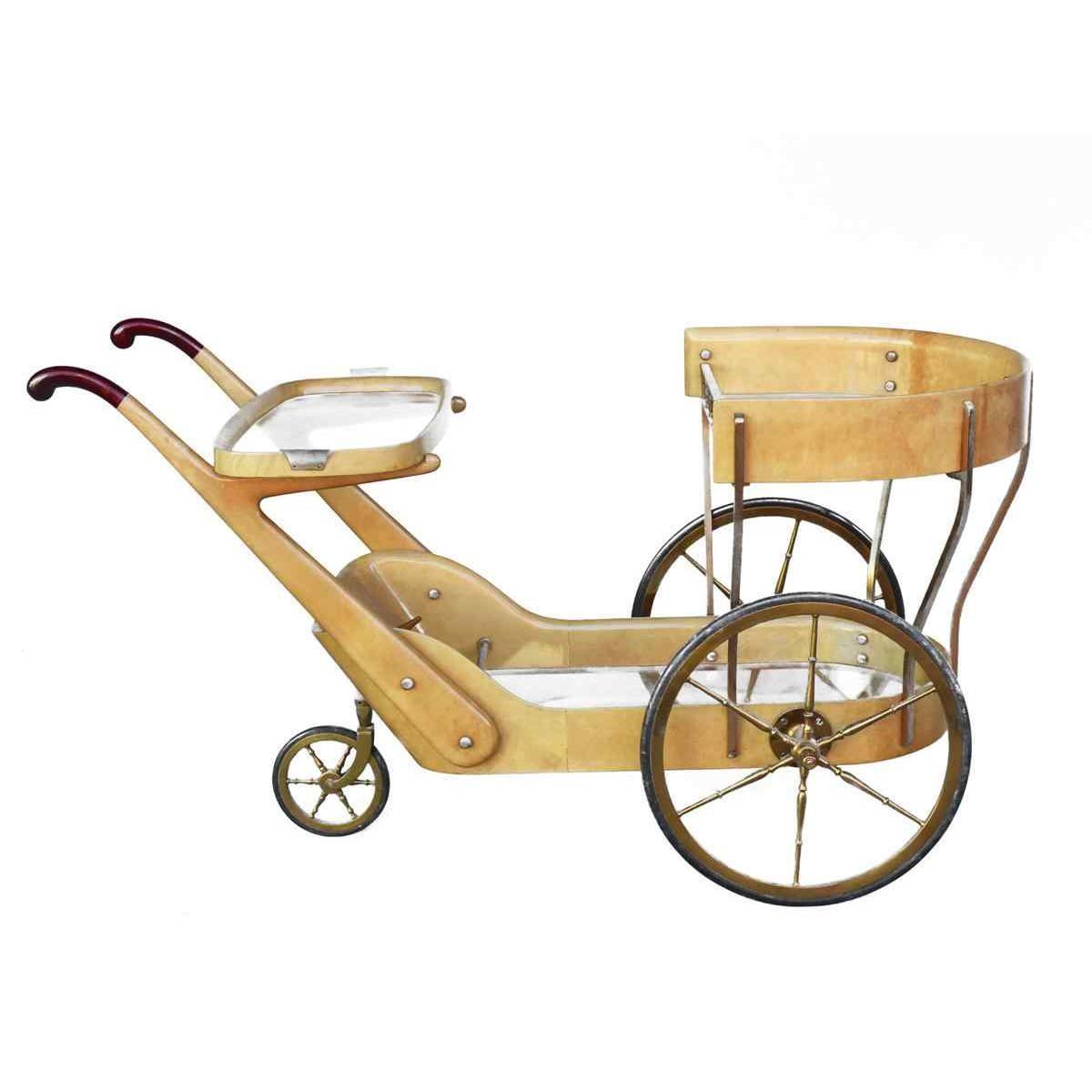 Aldo Tura barre de chariot parchemin