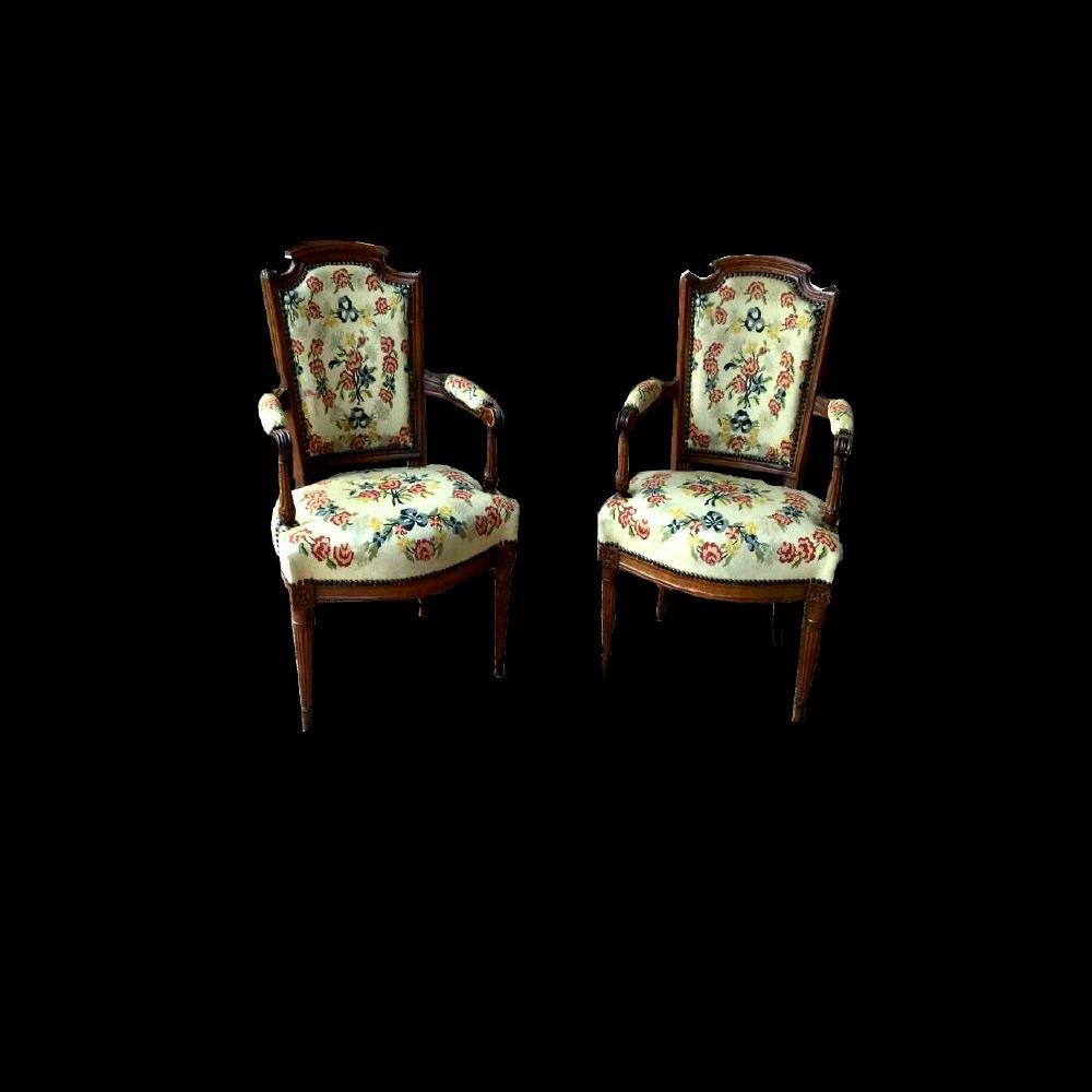 Paire de fauteuils d'époque XVIIImeme LOUIS XVI