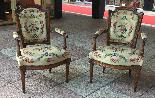 Paire de fauteuils d'époque XVIIImeme LOUIS XVI-0