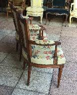 Paire de fauteuils d'époque XVIIImeme LOUIS XVI-1
