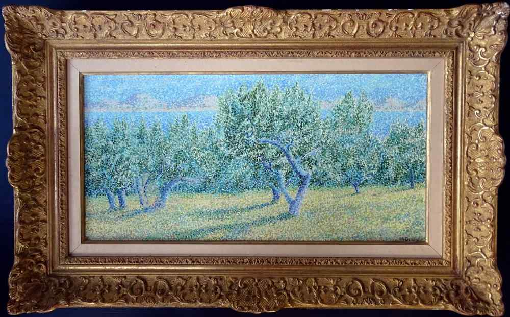 Orchard Blanche Augustine CAMUS Neoimpressionismo