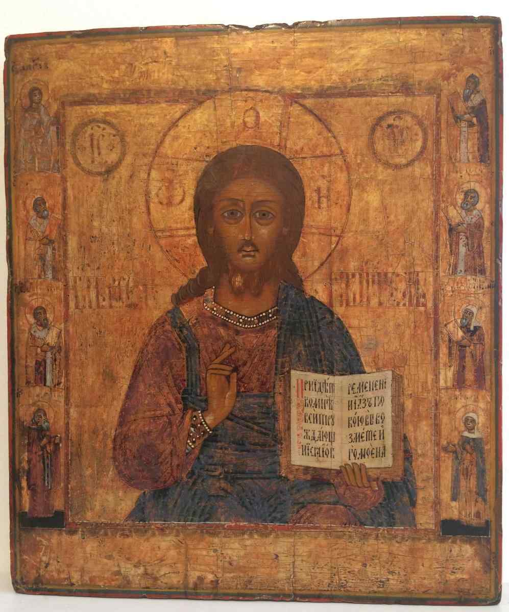 Russian Icon, The Christ Pantocrator, 19th Century