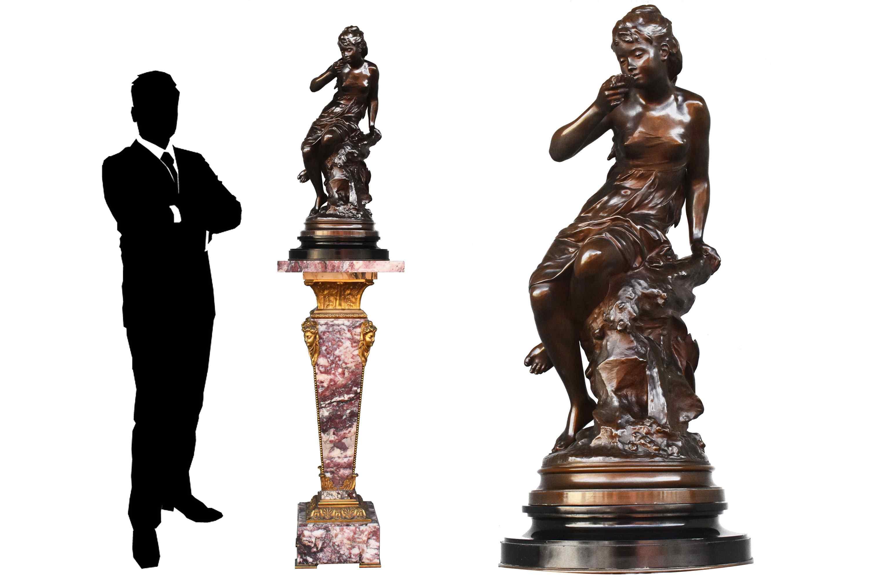 La source - Mathurin Moreau XIXème siècle en bronze