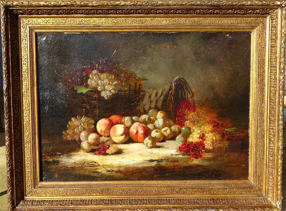 Très Importante Nature Morte Brunel de Neuville hst 19ème