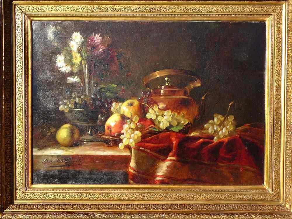 Natura Morta, Brunel de Neuville XIX secolo