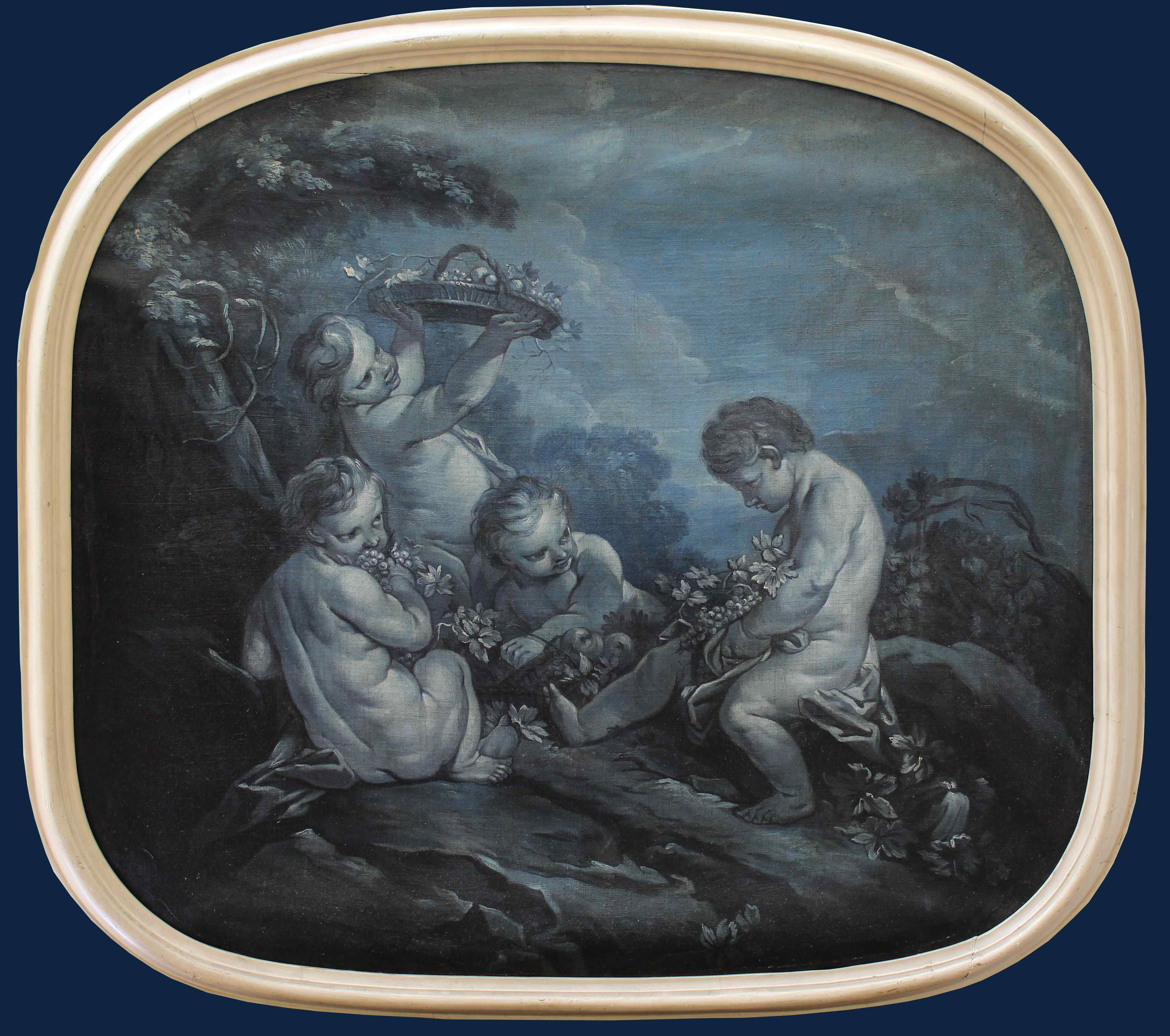Cerchia di F. Boucher 1703 , 1770 Putti Grisaille