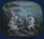 Cerchia di F. Boucher 1703 , 1770 Putti Grisaille-1