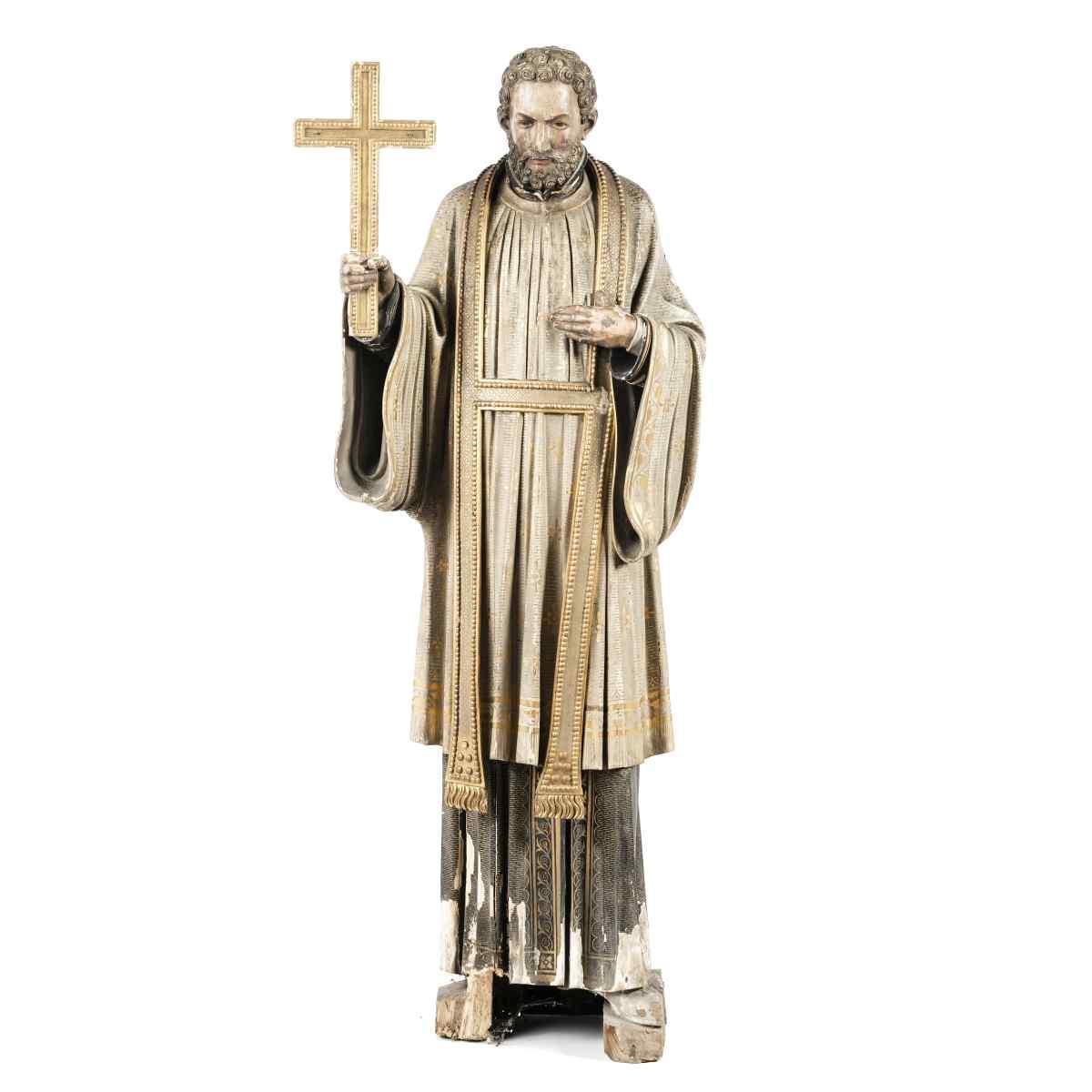 Sculpture européenne du 800 Sec. XIX « Saint François »