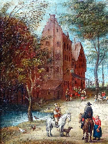 Jan Pieter van Bredael the Young Village Scene Oil / cloth-9