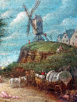 Jan Pieter van Bredael the Young Village Scene Oil / cloth-8