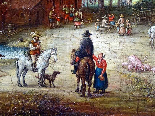 Jan Pieter van Bredael the Young Village Scene Oil / cloth-10