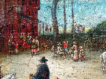 Jan Pieter van Bredael the Young Village Scene Oil / cloth-0