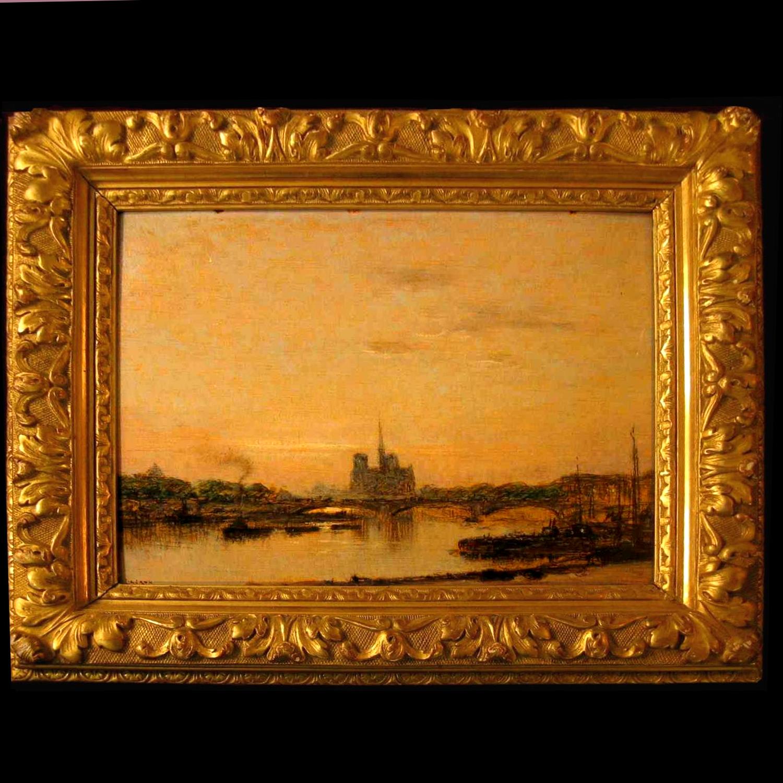 Рене LIGERON 1880-1946 Вид Сены в Париже