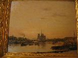 Рене LIGERON 1880-1946 Вид Сены в Париже-1
