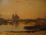 Рене LIGERON 1880-1946 Вид Сены в Париже-0