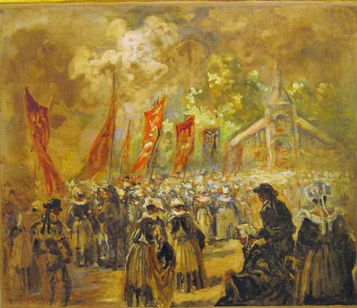 Paul Henry LAFON Breton forgiveness scene